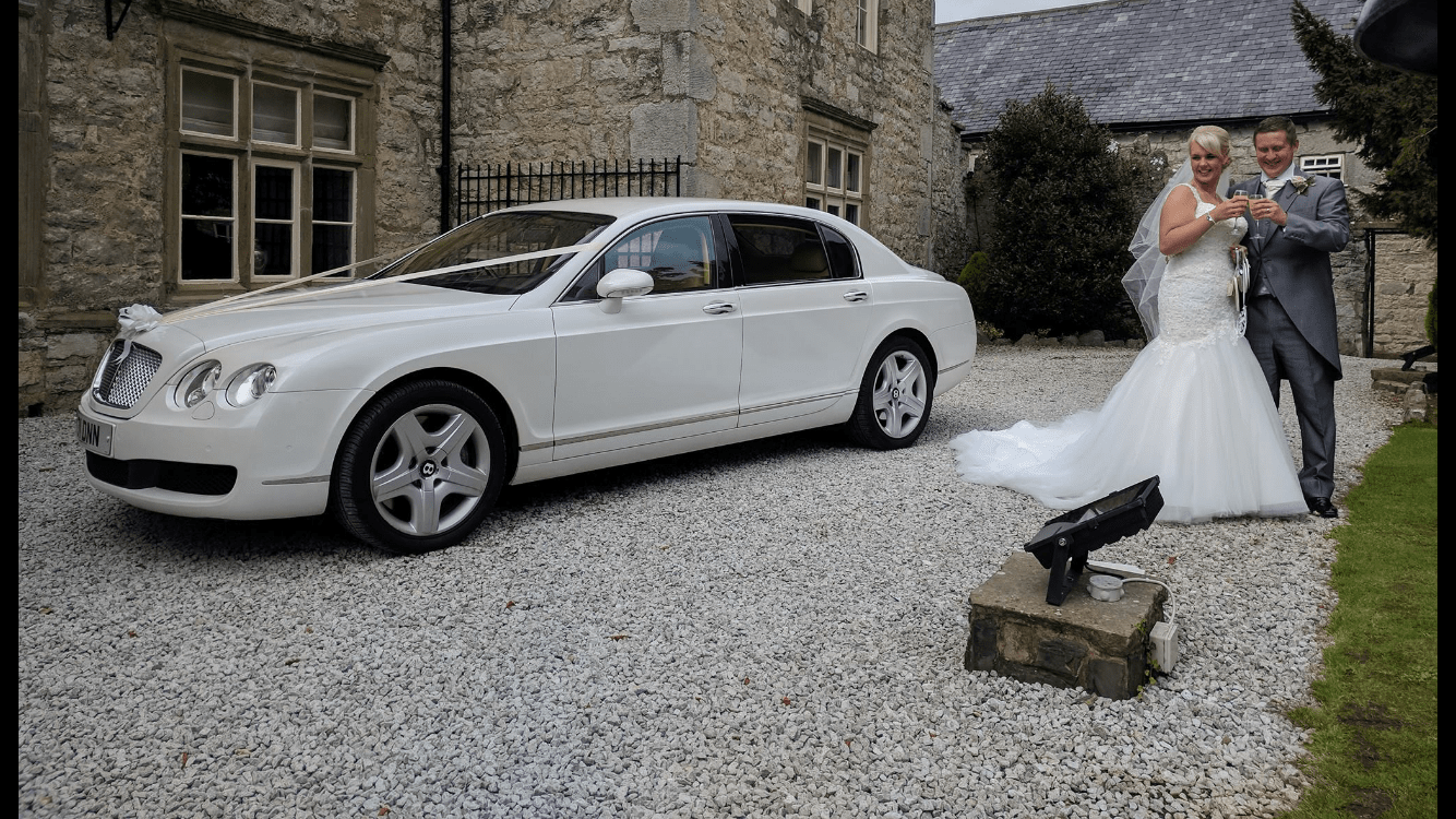 Mercedes white wedding cars St Helens