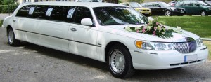 wedding limo from fleet